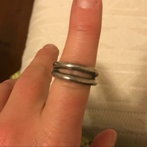 Jewelry - Double band, thick silver ring from Italy